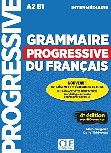 9782090381030: Grammaire progressive du francais. Niveau intermediaire. Per le Scuole superiori. Con espansione online [Lingua francese]: Livre intermediaire