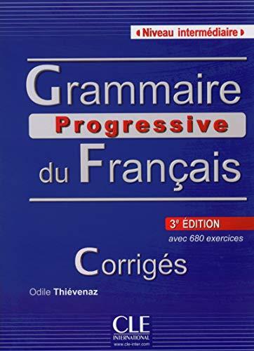 9782090381177: Grammaire Progressive Du Français. Niveau Intermédiaire - 3º Édition, Corrigés