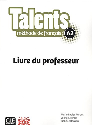 9782090386332: Talents Fle Niveau A2 Guide Pedagogique Version Anaya
