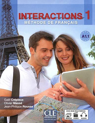 Interactions 1 - Methode de Francais A1.1 with DVD-Rom: Crepieux, Masse & Rousse