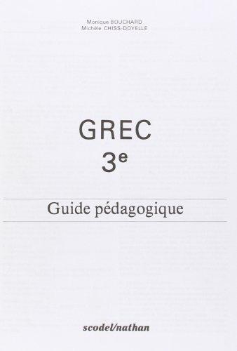 9782091101569: Grec, guide pédagogique, 3e