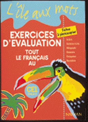 9782091212814: Ile aux mots exercices d'évaluation tout le français au CE1 cycle 2 (French Edition)