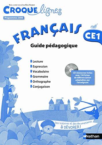 croque-lignes francais ce1 guide pedagogique + cd