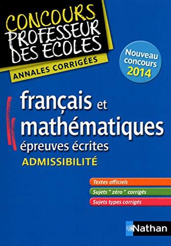 9782091226569: Annales CRPE 2014 : Admissibilit� Fran�ais & Math�matiques