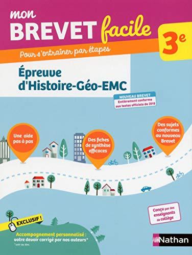 9782091520193: Mon Brevet facile - Épreuve de Histoire-Géographie-EMC - 3e (04)