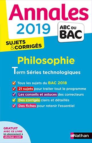 9782091573601: Annales ABC du BAC 2019 - Philo Term STMG
