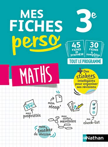 9782091573748: Mes fiches perso Maths 3e - Révisions brevet 2020 (1)