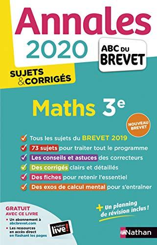 9782091574523: Mathématiques 3e : Sujets & corrigés (Annales ABC du Brevet)