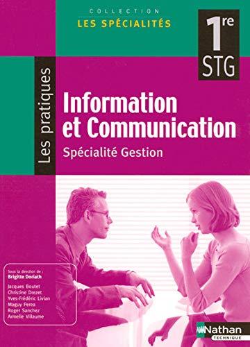 9782091603469: Information et communication 1e STG (French Edition)