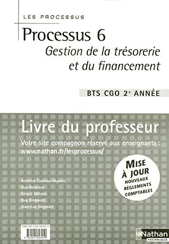 9782091603919: Processus 6 BTS CGO 2e année (French Edition)