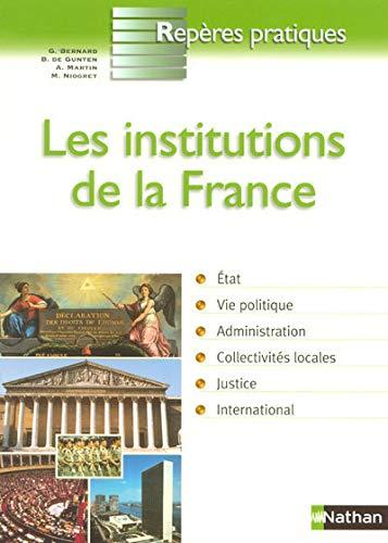 9782091604312: Les institutions de la France