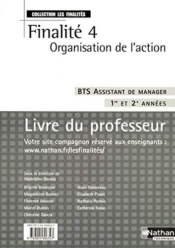 Finalité 4 Organisation de l'action BTS Assistant: Madeleine Doussy