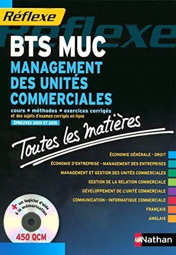 9782091606699: Management des unités commerciales BTS MUC : Toutes les matières (1CD-Rom)