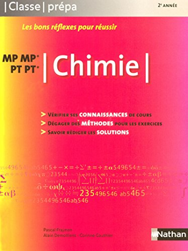 9782091607481: Chimie MP-MP*-PT-PT* (French Edition)
