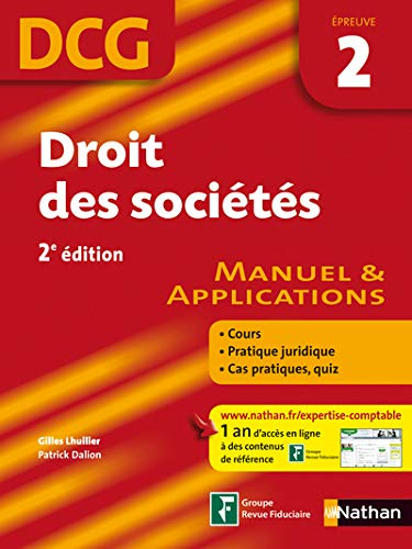 9782091607900: Droit des societes DCG 2 (French Edition)