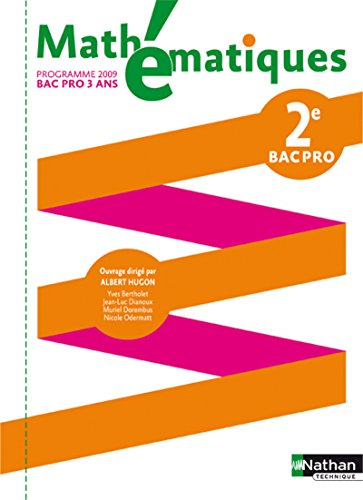9782091610290: Math�matiques - 2e Bac Pro