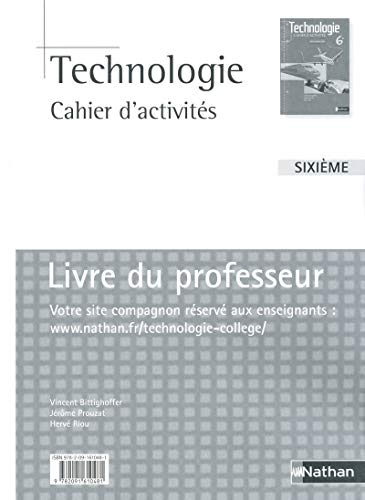 9782091610481: Technologie 6e, cahier d'activites (French Edition)