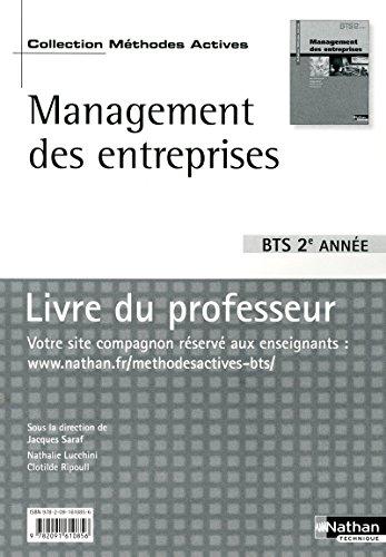 """""""management des entreprises ; BTS ; 2ème année ; livre du professeur"""": ..."""