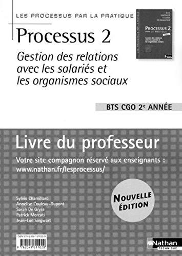 Processus 2 Gestion des relations avec les salariés et les organismes sociaux BTS CGO ...