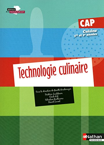 9782091612812: Technologie culinaire