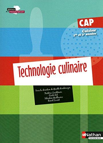 9782091612812 Technologie Culinaire Cap Cuisine 1e Et 2e Annees