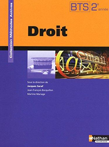 Droit BTS 2e année (French Edition): Jacques Saraf