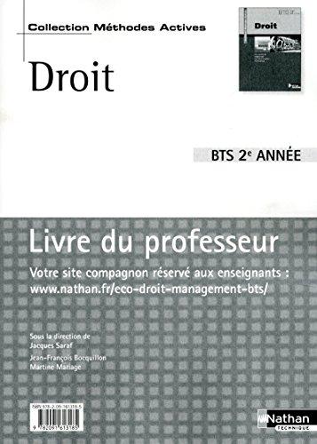 Droit BTS 2Eme année (French Edition): Jean-François Bocquillon