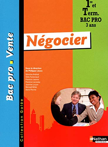 9782091616247: Negocier 1re et Tle Bac Pro Vente (French Edition)