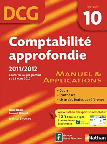 Comptabilité approfondie DCG 10: Odile Barbe; Laurent