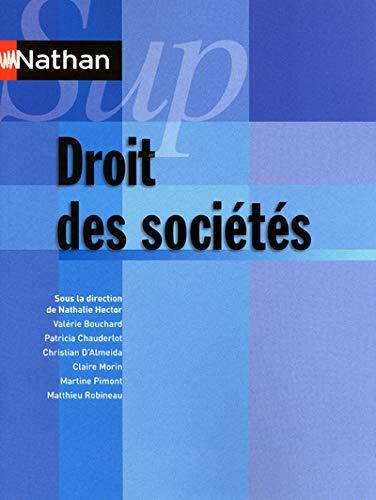 9782091617817: Droit des sociétés - Collection Nathan Sup