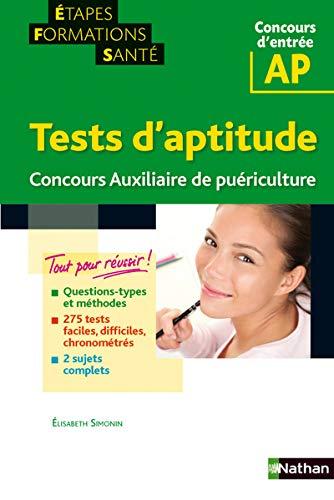 9782091620176: tests d'aptitude auxiliaire de puericulture (etapes formations sante) - 2012