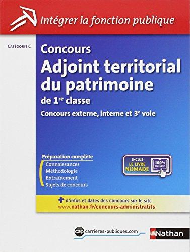concours adjoint territorial du patrimoine de 1e classe (integrer fonct publique) cat c n0 41 -2012...