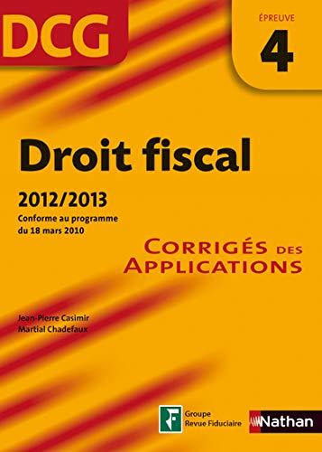 9782091620541: DROIT FISCAL EPREUVE 4 - CORR