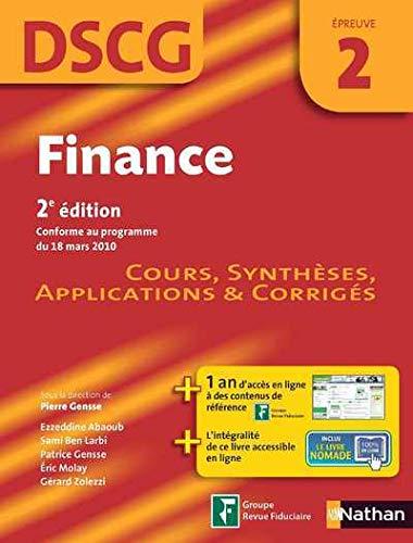 finance epreuve 2 dscg manuel applications et corriges 2012: Pierre Gensse
