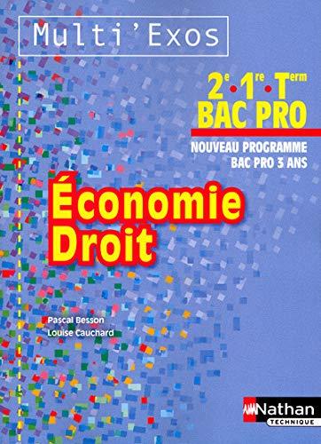 9782091621005: economie droit 2e/1ere/terminale bac pro - pochette (multi'exos) livre de l'eleve 2012
