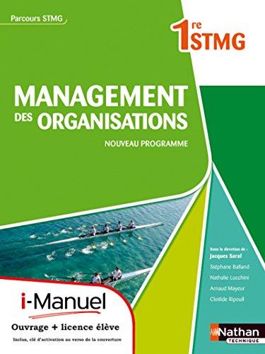 9782091624181: Management des organisations 1re stmg parcours stmg I-manuel bi-média