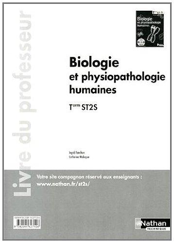 9782091627106: Biologie et physiopathologie humaines - Tle ST2S - livre du professeur