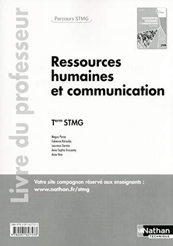 9782091627533: Ressources humaines et communication Tle STMG : Livre du professeur