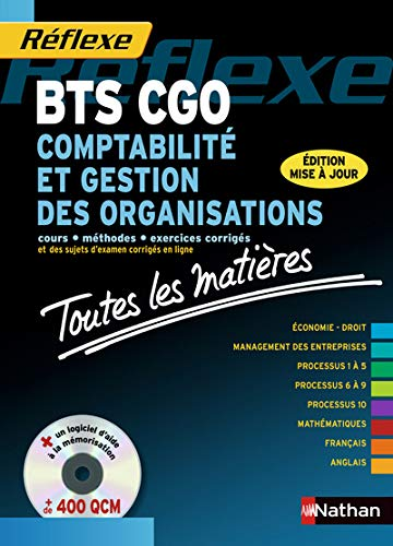 9782091628172: Comptabilite et gestion des organisations bts cgo + cdrom (toutes les matieres) n 09 - 2013