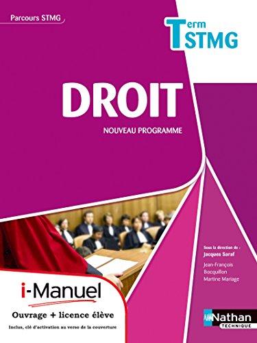 9782091628776: Droit - Tle STMG