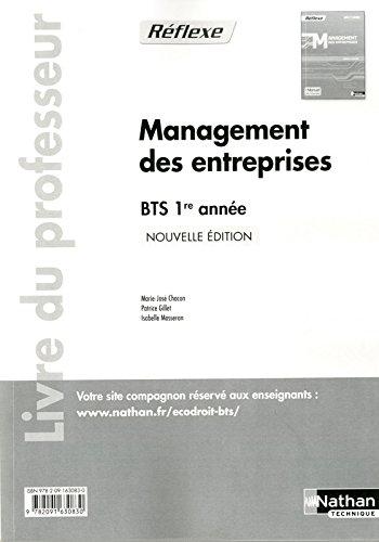 Management des entreprises BTS 1re année: Chacon. Marie-Jos�
