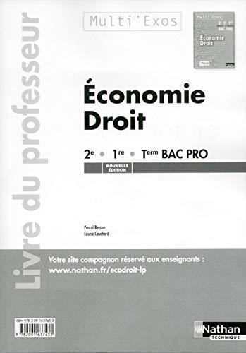 9782091637433: Economie - Droit 2e/1re/Tle Bac Pro