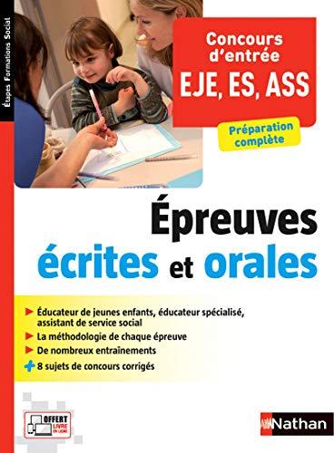 9782091639284: Concours d'entrée Éducateur de jeunes enfants - Éducateur spécialisé - Assistant de service social
