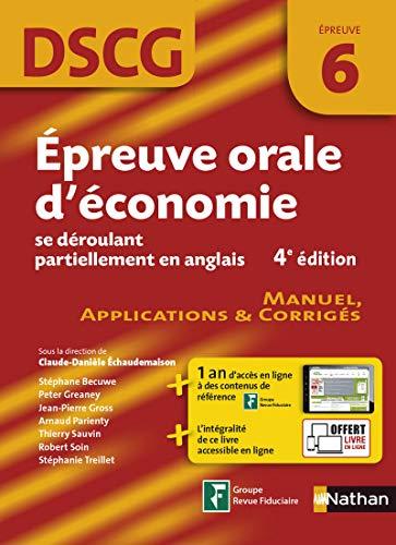 DSCG 6 - Épreuve orale d'économie se: Peter Greaney; Jean-Pierre