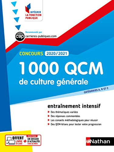 9782091670195: 1 000 QCM Culture générale - Concours 2020-2021 - N° 28 - Catégories ABC - (IFP) - 2020