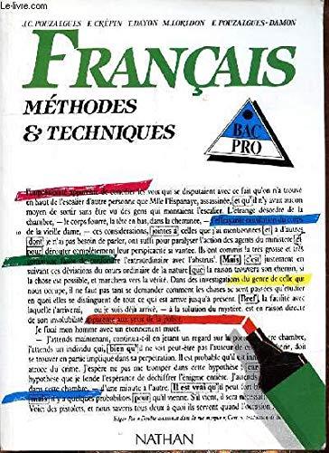 9782091706733: Français : méthodes et techniques, bac professionnel, élève