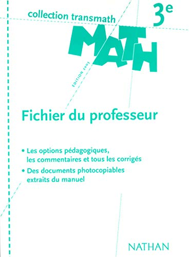 9782091711850: Math 3e (French Edition)