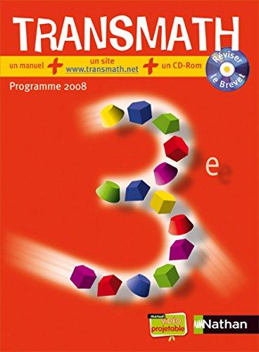 """""""mathématiques ; 3ème ; manuel de l'élève (édition ..."""