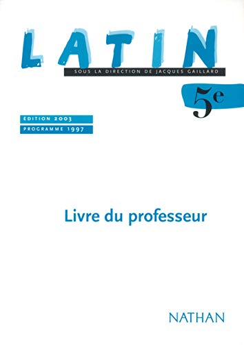 9782091712147: Latin 5ème (French edition)