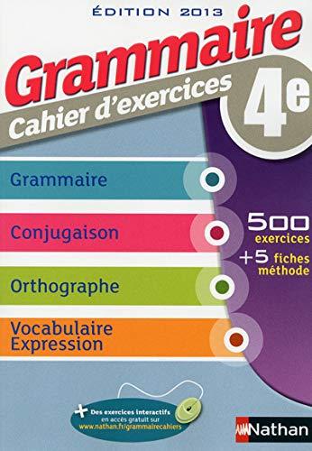 9782091715759: Grammaire cahier d'exercices 4e